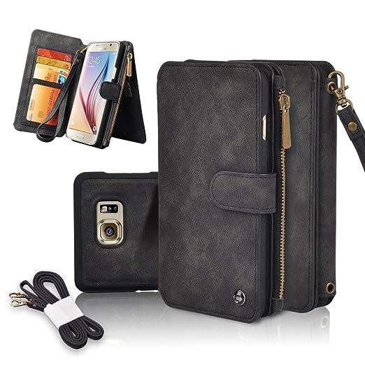 21 opinioni per Custodia per Galaxy S6, CORNMI Samsung Galaxy S6Custodia a portafoglio, in