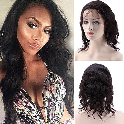 360 encaje peluca Pelucas De Pelo Humano para las mujeres negras recto con bebé pelo natural