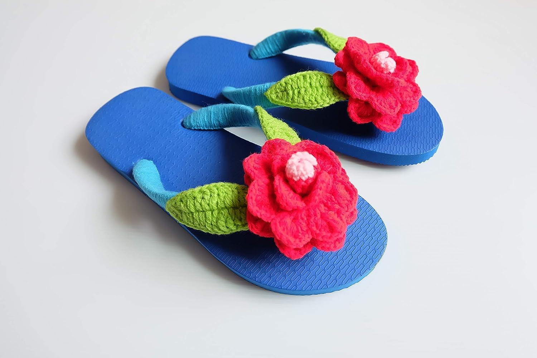 dee2fd0972627 Amazon.com | Precious Thai Handmade Flip Flops Decorated with ...