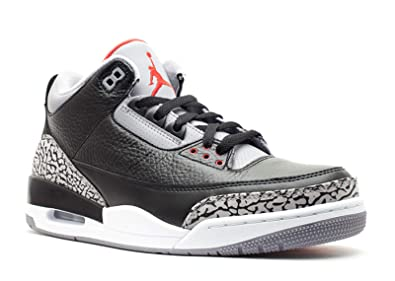 677c6ab9ba58 Amazon.com  Nike Air Jordan 3 Retro Black Cement (136064-010)  Shoes