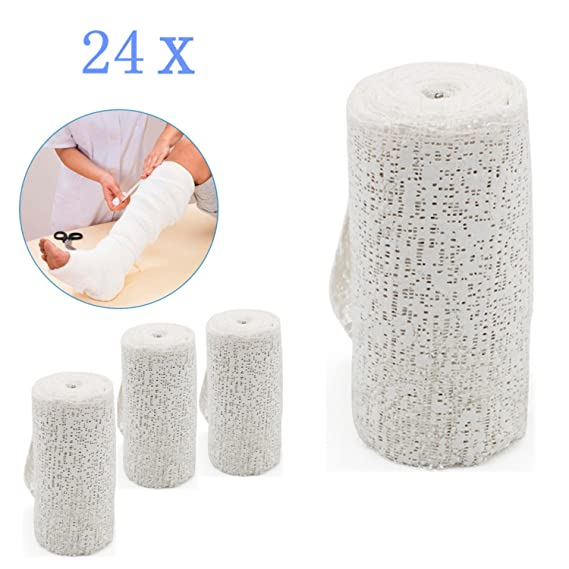 Forever Speed 24 Rollos Vendaje de yeso Médico Protectores de escayola Blanco (10cm x 3m): Amazon.es: Salud y cuidado personal
