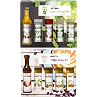 Monin Double Gift Set, Coffee & Cocktail Syrup Gift Sets (5 x 5cl Each)