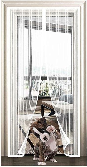 Moustiquaire Magn/étique Mailles Ultra Fine Aimants Fermeture Automatique 28x75inch pour Couloirs Portes Patio Rideau,70x190cm Lichll Rideau Moustiquaire Magn/étique