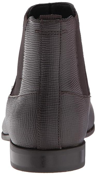 f41f5290410 Calvin Klein Men's Christoff Epi Leather Chelsea Boot