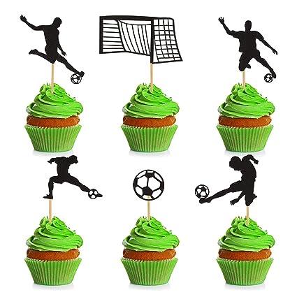 Donoter - Juego de 36 púas para decoración de cupcakes de ...