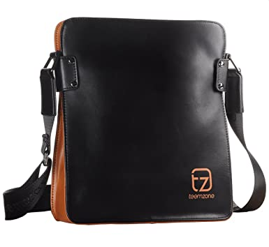 Amazon.com | Teemzone Men's Genuine Leather Messenger Shoulder ...