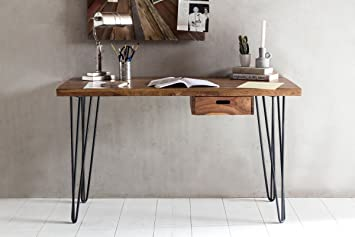Home collection bureau bagli marron  cm bois massif