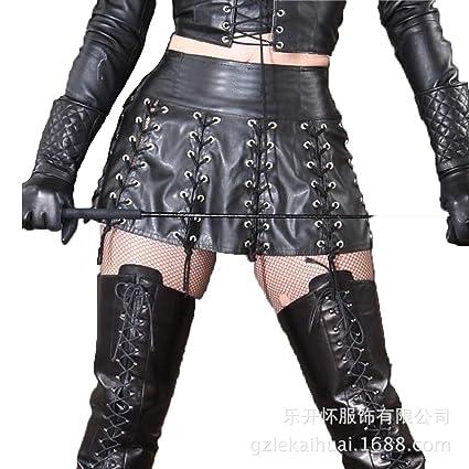 Falda de charol de lencería sexy Sexy de alta calidad de múltiples ...