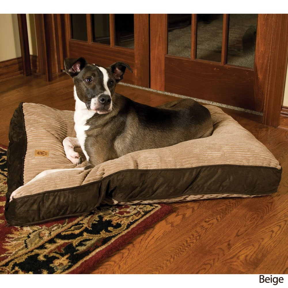 Brown Large Brown Large Precision 2420-74479FD 30x40-Inch Floor Pillow Cargo Kennel BGE Suede Wide Chnille