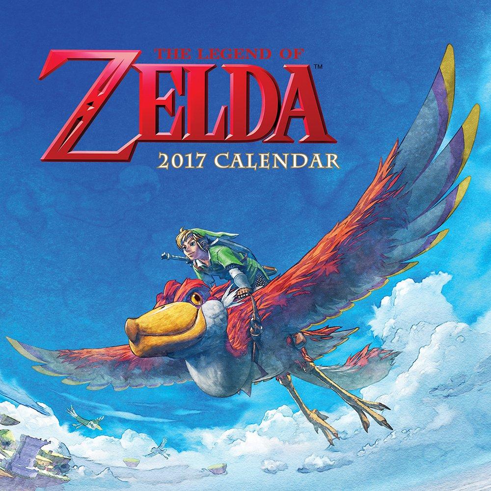 Legend Zelda 2017 Wall Calendar