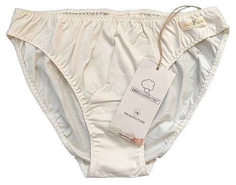 Braguitas de bikini de algodón orgánico certificadas para mujeres (pequeñas)