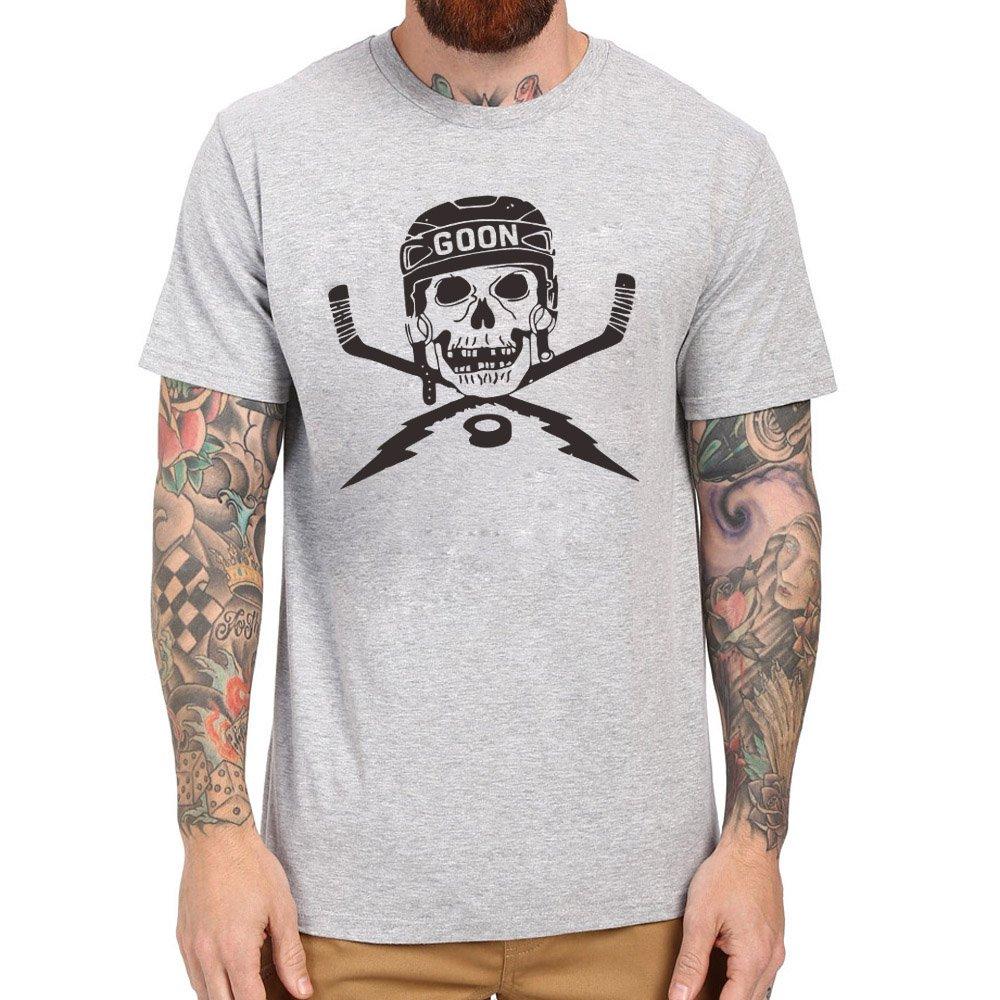 Loo Show S Hockey Goon Hockey Skull And Sticks Graphic Casual T Shirts Tee