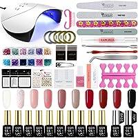 Coscelia UV nagellak set 36W UV + LED nagellamp gel lak starterset 10x UV gel nagellak voor gelnagels nagel ontwerpen UV…
