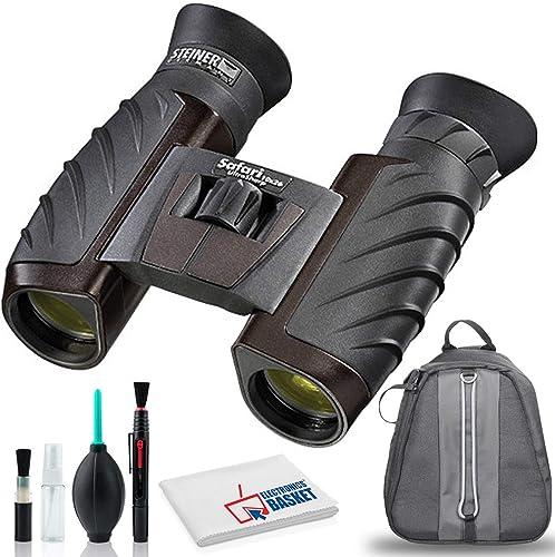 Steiner 10×26 Safari Ultrasharp Binocular with Cleaning Kit and Bag