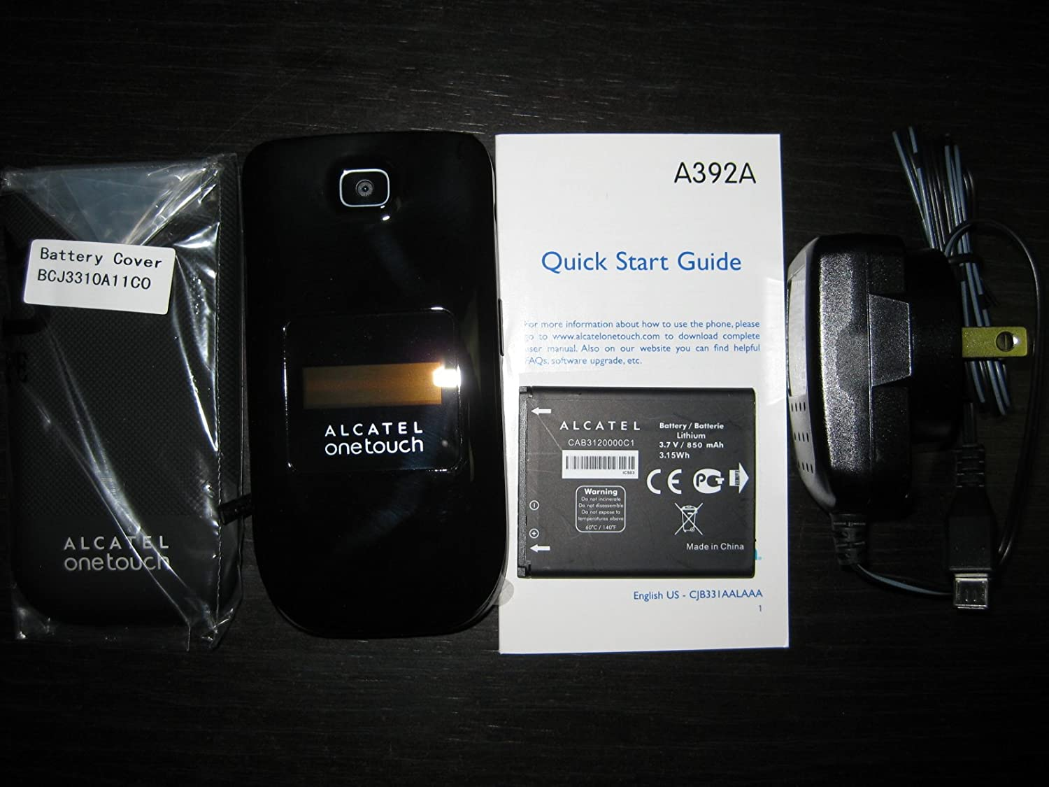UNLOCKED Alcatel OneTouch A392A Quad Band Flip Cell Phone, Camera, Bluetooth