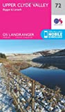 Ordnance Survey Landranger 72 Upper Clyde Valley, Biggar & Lanark Map With Digital Version