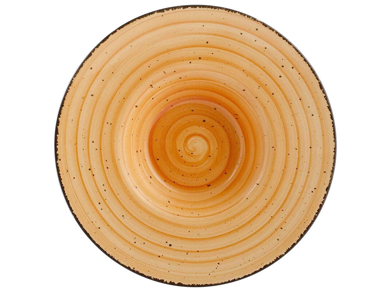 H&H 811999 Giotto - Plato de pasta, cerámica, naranja, 24,5 cm ...