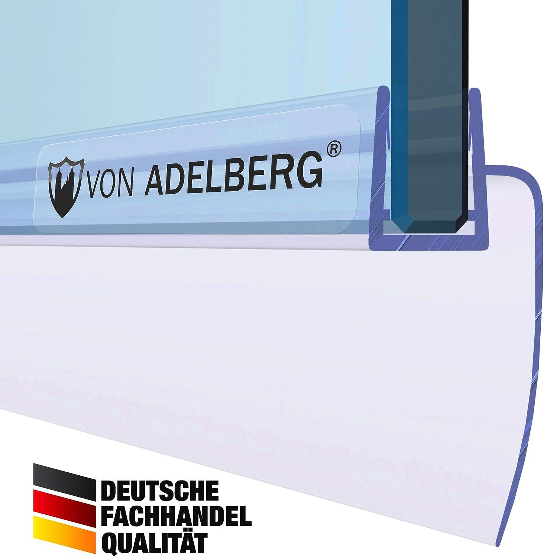 L/änge: 60 bis 200 cm Dichtung L/änge:80 cm Glasst/ärke: 6 mm Duschdichtung Wasserabweiser Gerade PVC Ersatzdichtung f/ür Dusche Typ: VA002