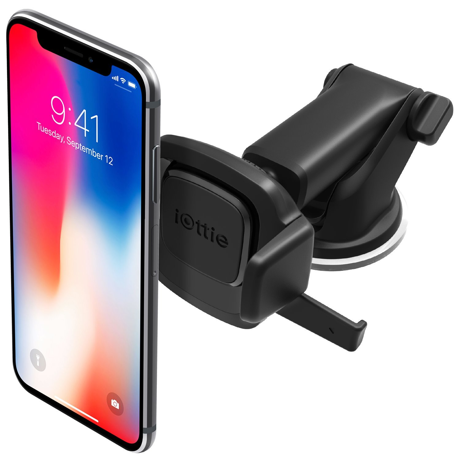 iOttie Easy One Touch Mini Windshield & Dashboard Car Mount Holder for iPhone XS Max R 8 8 Plus 7 Plus 6s Plus 6 SE Samsung Galaxy S9 S9 Plus S8 Plus S8 Edge S7 S6 Note 9