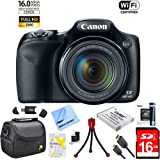 Canon Powershot SX530 HS 16MP Wi-Fi Super-Zoom Digital Camera 50x Optical Zoom Ultimate Bundle Includes Deluxe Camera Bag, 16GB High Speed Memory Card, Extra Battery, Tripod, Card Reader & More