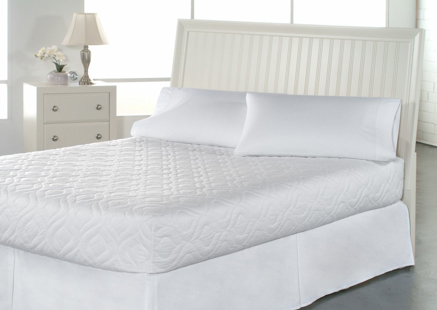 Bed Mattress Pad Cover Twin Xl White Protector Pillow Top ...