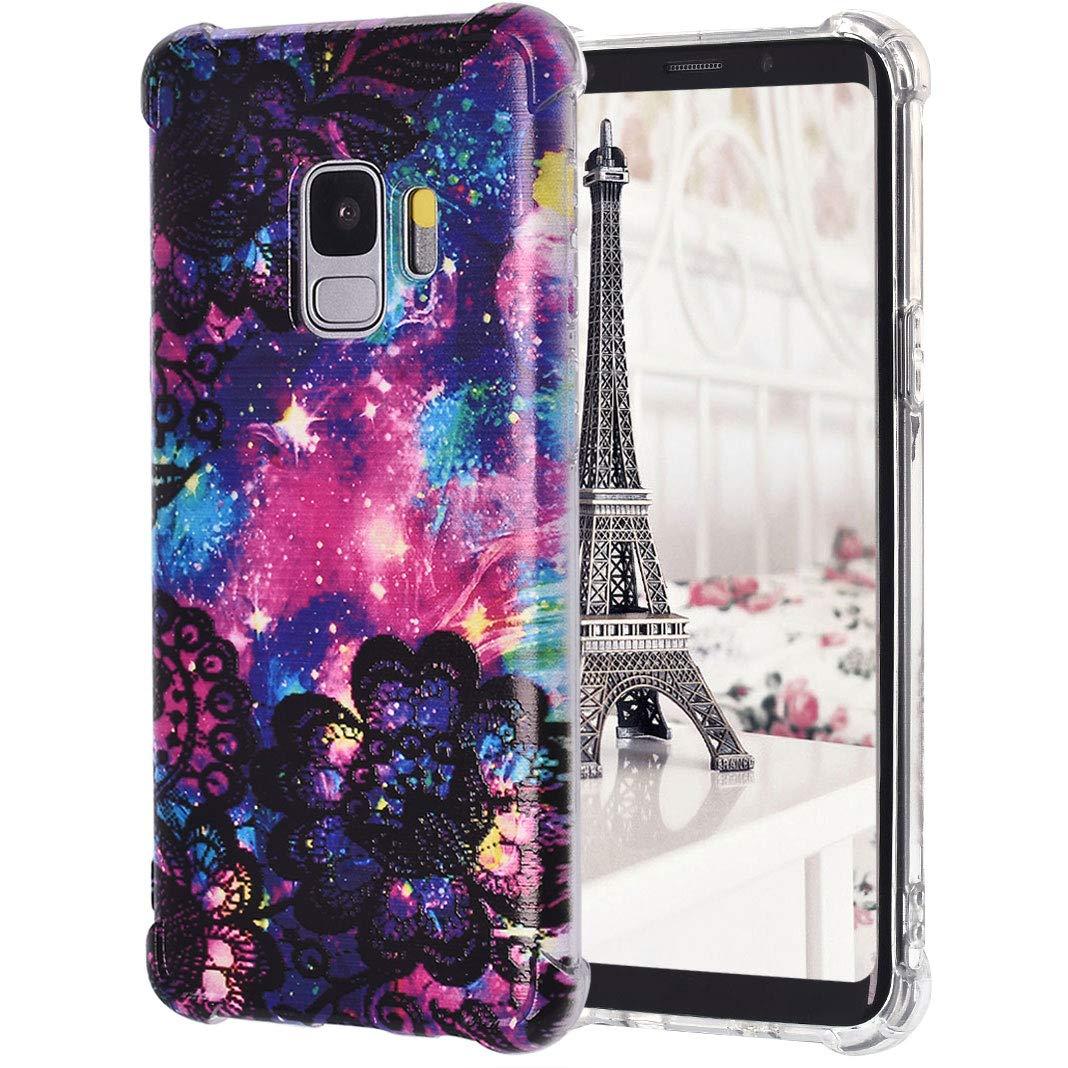 TPU Étui pour Samsung Galaxy S9, Impression Peint Imperméable Durable Anti-Chute Leicht Protecteur de Pare-Chocs de Silicium Transparent pour Samsung Galaxy S9