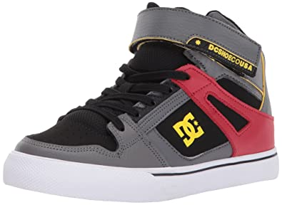 268a49042cb DC Boys' Spartan High SE EV Grey Black Red High Top Shoes -