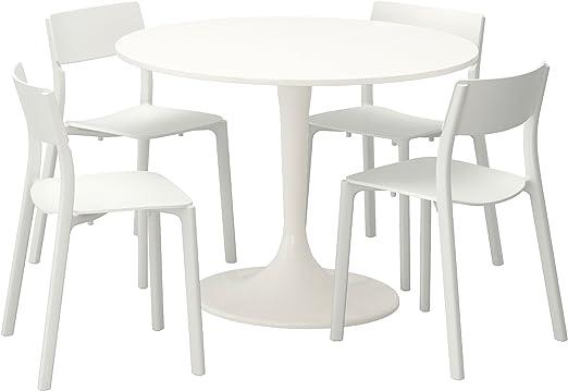 DOCKSTA Table, blanc, blanc IKEA