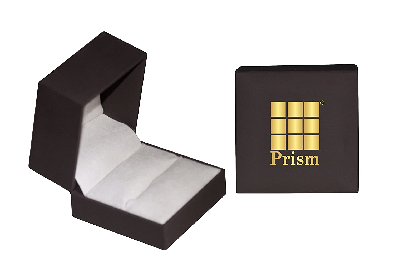 Prism Jewel 0.09CT G-H//SI1 Natural Diamond Light Weight 2-Row Ring