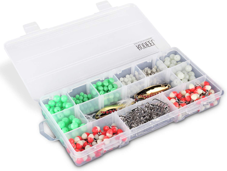 color blanco o 15 rejillas negras. 12 rejillas Juego de 3 cajas de almacenamiento para aparejos de pesca ajustables Rodeel