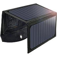 Cargador Solar 19W, Panel Solar Plegable Para Exteriores Resistente a la Lluvia, con 2 Puertos USB Compatible con Todos…