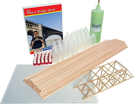Amazon.com: Pitsco Balsa Madera bridgepak Kit (para 25 ...