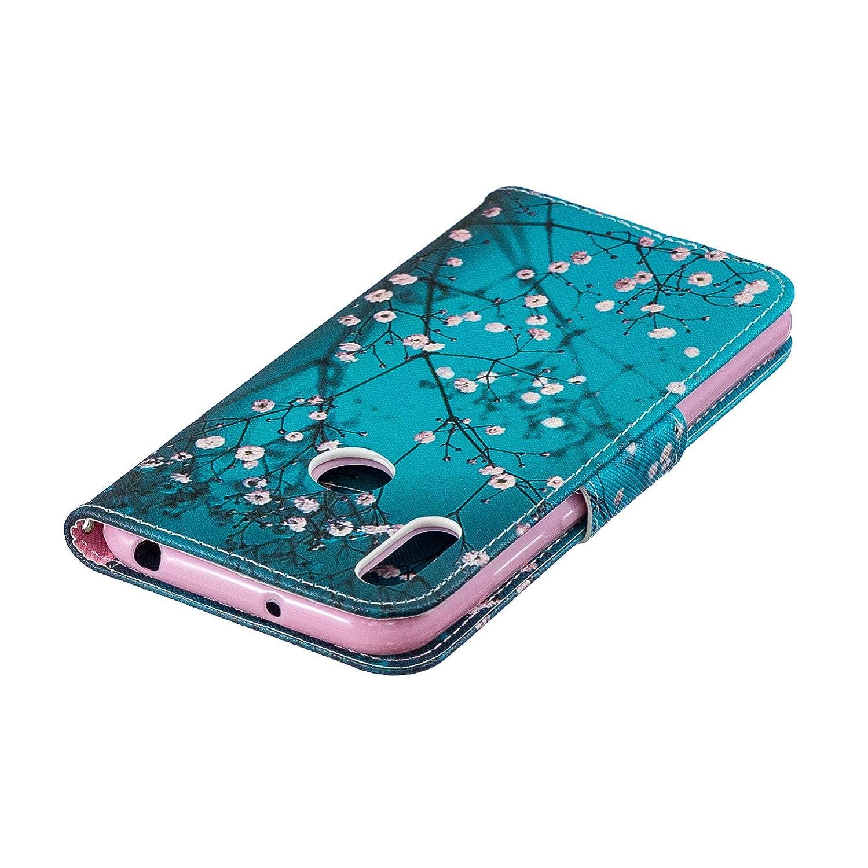 Schutzh/ülle Brieftasche mit Kartenfach Klappbar Magnetverschluss Sto/ßfest Kratzfest Handyh/ülle Case f/ür Huawei Y6 Lomogo Huawei Y6 2019 // Honor 8A H/ülle Leder 2019 - LOBFE050100#10