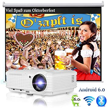 Proyector inalámbrico HD WiFi Airplay Proyector Bluetooth HDMI ...