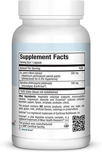 Pure Naturals St. John s Wort, 700 mg Per Serving, 180 Capsules Nervous System Support*