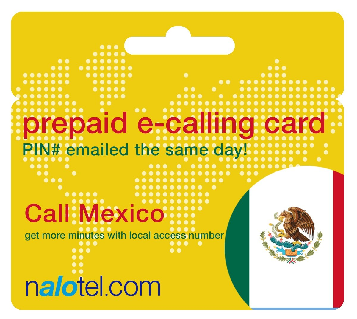 Prepaid Phone Card - Cheap International E-Calling Card $10 for Mexico with same day emailed PIN, no postage necessary