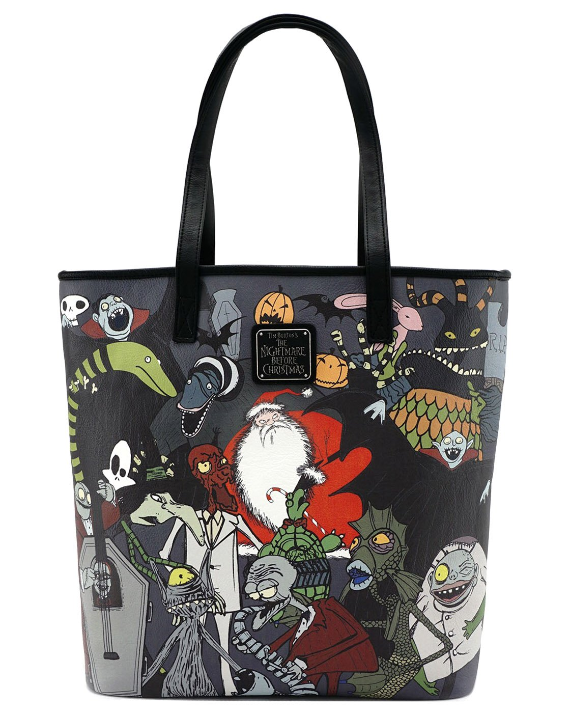 Loungefly X Nightmare Before Christmas Character Print Tote Purse ...