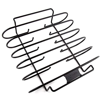 amazon store 2017 gill rack grill grate black non stick bbq BBQ Ribs On Smoker store 2017 gill rack grill grate black non stick bbq rib rack for charcoal grills