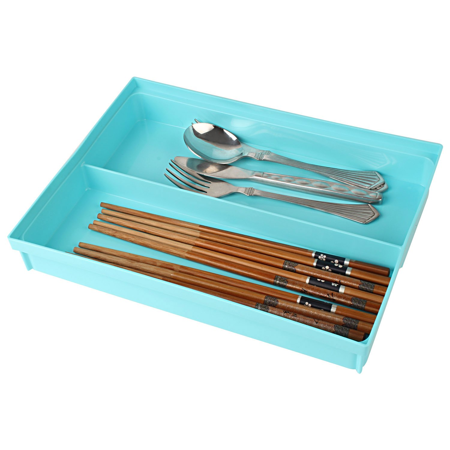 HOKIPO Kitchen Storage Cutlery Tray - Set of 4 (Assorted Colors ...