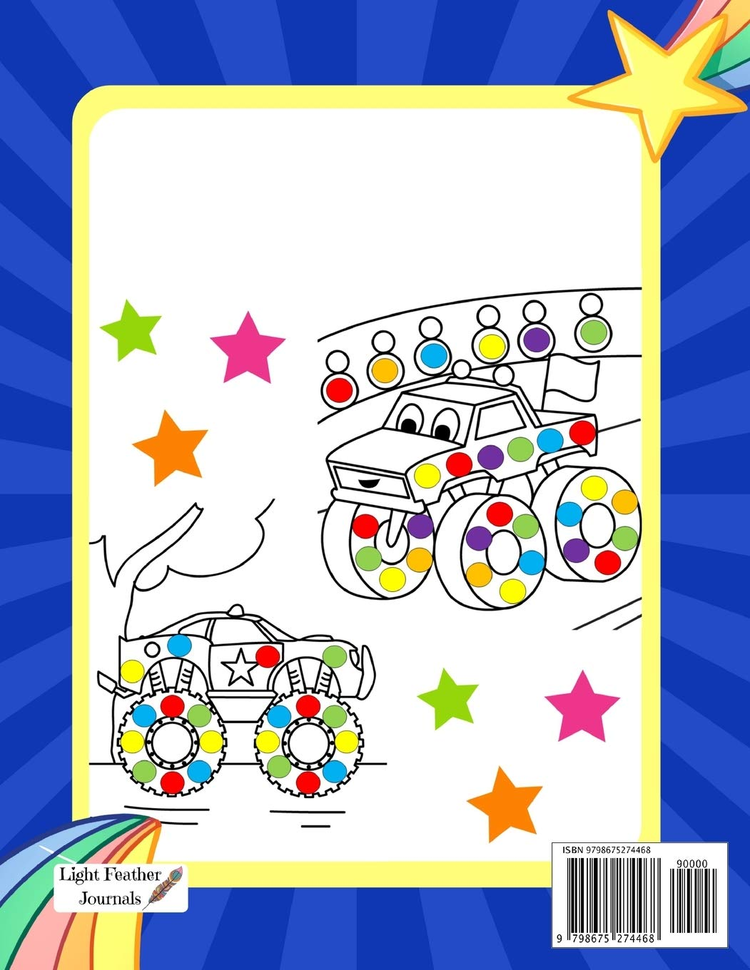 Big Dots Coloring Book Dot Markers Activity Book For Toddlers Ages 2 4 Mighty Trucks Cars And Vehicles Paint Daubers Coloring Book Journals Light Feather 9798675274468 Amazon Com Books
