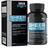 Extra Strength Testosterone Booster for Men Supplement - Natural Energy, Strength & Stamina - Promotes Fat Loss & Lean Muscle Growth - L Arginine & Tribulus - Sheer Strength Labs, 60ct