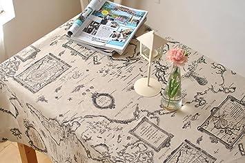 Perfekt Weltkarte Rectangular Cotton Leinen Tischdecke Handtuch Couchtisch Home  Küche Wohnzimmer Dekor Zubehör 6 Größen , 140
