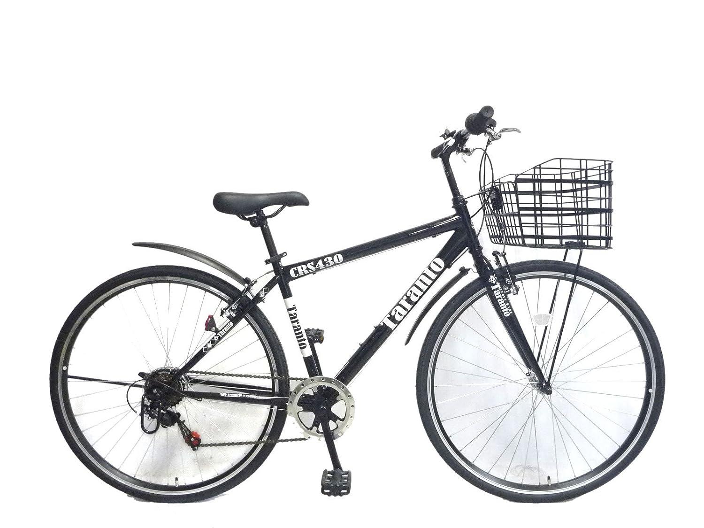 ターラントビジネス 430mm シマノ6段変速 クロスバイク スポーツ用自転車 B017B75VA8 ブラック ブラック