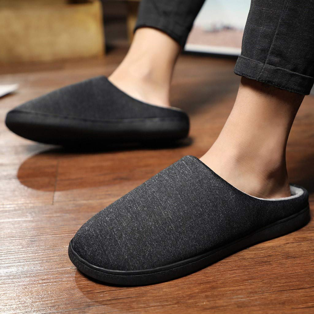 Men's and Women's Comfort Quilted Memory Foam Fleece Lining House Slippers Slip On Clog House Shoes,SUNSEE 2019 by MEN SHOES BIG PROMOTION-SUNSEE (Image #7)