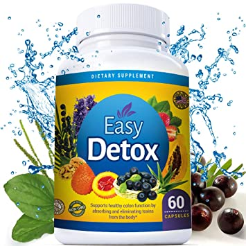 Body Detox Cleanse Pills With Acai Berry and Psyllium Husk For Women And Men. Metabolism