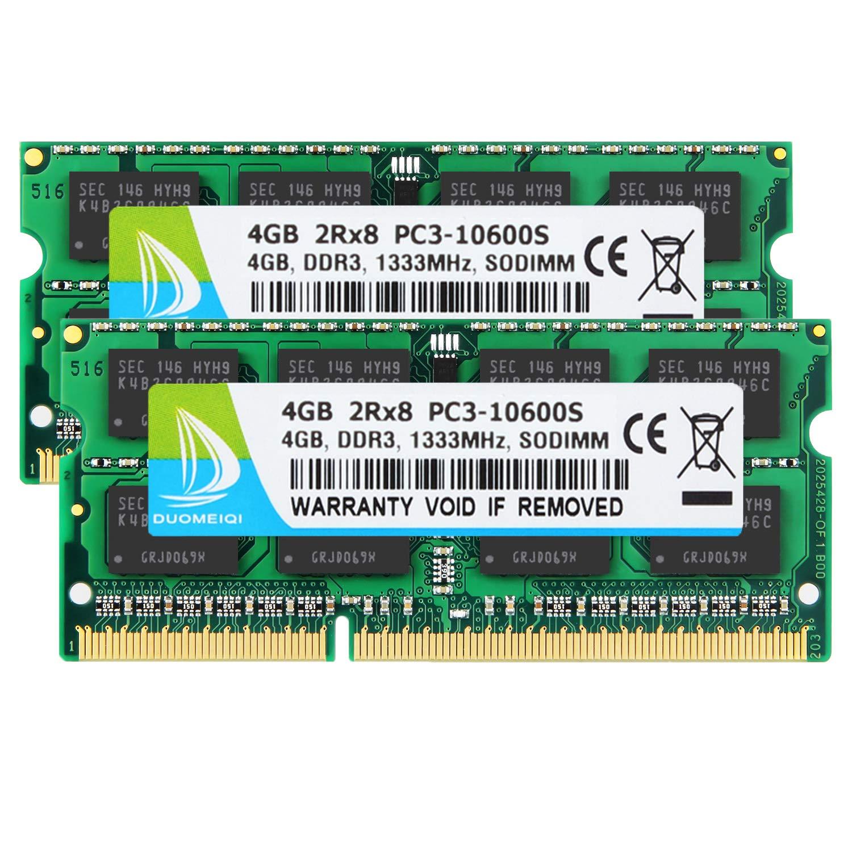 Memoria Ram 8GB (2X4GB) DDR3 1333MHZ SODIMM DUOMEIQI