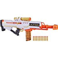 Nerf Ultra Pharaoh Blaster with Premium Gold Accents and 10 Special Edition Gold Coloured Nerf Ultra Darts- 10 Dart Clip…