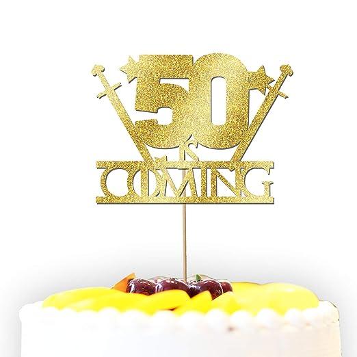 Decoración para tarta con purpurina personalizable para 50 ...
