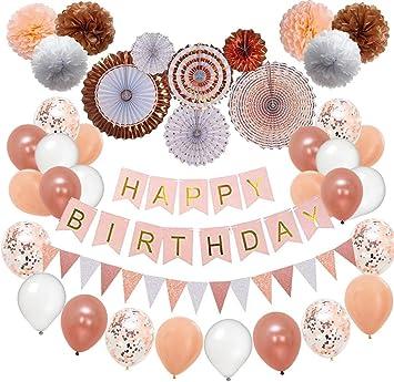 Amazon.com: Decoraciones de cumpleaños y fiestas de Nextin ...