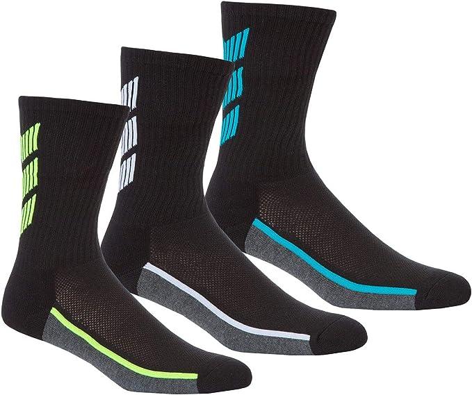 Style It Up - Calcetines de deporte - para hombre Negro 3 Pair Pack Green Line 39/48 EU: Amazon.es: Ropa y accesorios